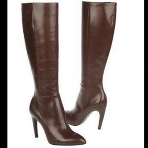 Via Spiga Knee High Bethany Boot in Chestnut